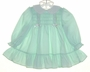 "<img src=""https://p11.secure.hostingprod.com/@grammies-attic.com/ssl/images/blue-sold-1.gif""> Polly Flinders Pale Green Long Sleeved Smocked Dress with Eyelet Collar"
