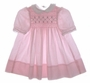"<img src=""https://p11.secure.hostingprod.com/@grammies-attic.com/ssl/images/blue-sold-1.gif""> Polly Flinders Pink Dotted Smocked Baby Dress with Green Embroidery"