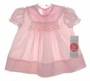 "<img src=""https://p11.secure.hostingprod.com/@grammies-attic.com/ssl/images/blue-sold-1.gif""> NEW Polly Flinders Pink Smocked Baby Dress with Pink Gingham Trim"