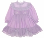 "<img src=""https://p11.secure.hostingprod.com/@grammies-attic.com/ssl/images/blue-sold-1.gif""> Polly Flinders Lavender Smocked Toddler Dress with Lavender Checked Trim"