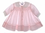 "<img src=""https://p11.secure.hostingprod.com/@grammies-attic.com/ssl/images/blue-sold-1.gif""> Vintage 1950s Polly Flinders Pale Pink Smocked Baby Dress with Front Buttons"