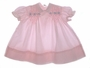 "<img src=""https://p11.secure.hostingprod.com/@grammies-attic.com/ssl/images/blue-sold-1.gif""> Polly Flinders Pink Smocked Baby Dress with Blue Embroidered Flowers"