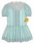 "<img src=""https://p11.secure.hostingprod.com/@grammies-attic.com/ssl/images/blue-sold-1.gif""> NEW Polly Flinders Green Striped Middy Style Dress with White Eyelet Collar"