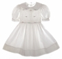 "<img src=""https://p11.secure.hostingprod.com/@grammies-attic.com/ssl/images/blue-sold-1.gif""> Polly Flinders White Smocked Dress with Pink Ribbon Roses"