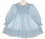 "<img src=""https://p11.secure.hostingprod.com/@grammies-attic.com/ssl/images/blue-sold-1.gif""> Polly Flinders Blue Long Sleeved Smocked Dress with Lace Trimmed White Collar"