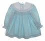"<img src=""https://p11.secure.hostingprod.com/@grammies-attic.com/ssl/images/blue-sold-1.gif""> Polly Flinders Aqua Flowered Smocked Toddler Dress with White Lace Trimmed Collar"