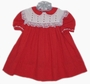 "<img src=""https://p11.secure.hostingprod.com/@grammies-attic.com/ssl/images/blue-sold-1.gif""> Polly Flinders Red Dotted Baby Dress with Red Rosebuds"