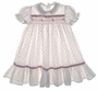 "<img src=""https://p11.secure.hostingprod.com/@grammies-attic.com/ssl/images/blue-sold-1.gif""> Polly Flinders Red Rosebud Print Long Baby Dress with Red Ribbon Insertion"