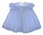 "<img src=""https://p11.secure.hostingprod.com/@grammies-attic.com/ssl/images/blue-sold-1.gif""> Vintage 1940s Polly Flinders Blue Checked Baby Dress"
