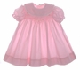 "<img src=""https://p11.secure.hostingprod.com/@grammies-attic.com/ssl/images/blue-sold-1.gif""> Polly Flinders Pink Smocked Baby Dress with Lace Trimmed Portrait Collar"