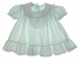 "<img src=""https://p11.secure.hostingprod.com/@grammies-attic.com/ssl/images/blue-sold-1.gif""> Polly Flinders Pale Green Dotted Baby Dress with White Ruffled Collar"