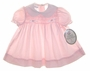 "<img src=""https://p11.secure.hostingprod.com/@grammies-attic.com/ssl/images/blue-sold-1.gif""> NEW Polly Flinders Pink Smocked Baby Dress with White Eyelet Collar"