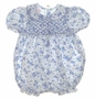 "<img src=""https://p11.secure.hostingprod.com/@grammies-attic.com/ssl/images/blue-sold-1.gif""> Polly Flinders Blue Flowered Smocked Bubble"