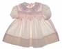 "<img src=""https://p11.secure.hostingprod.com/@grammies-attic.com/ssl/images/blue-sold-1.gif""> Polly Flinders Pale Pink Baby Dress with Rose Satin Ribbon Trim"