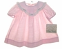 "<img src=""https://p11.secure.hostingprod.com/@grammies-attic.com/ssl/images/blue-sold-1.gif""> NEW Polly Flinders Pink Checked Baby Dress with Lace Trimmed Organdy Collar"