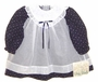 "<img src=""https://p11.secure.hostingprod.com/@grammies-attic.com/ssl/images/blue-sold-1.gif""> NEW Polly Flinders Navy Flowered Baby Dress with White Organdy Overlay"