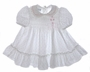 "<img src=""https://p11.secure.hostingprod.com/@grammies-attic.com/ssl/images/blue-sold-1.gif""> Polly Flinders Rosebud Print Smocked Baby Dress with Ruffled Hem"