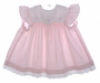 "<img src=""https://p11.secure.hostingprod.com/@grammies-attic.com/ssl/images/blue-sold-1.gif""> Polly Flinders Pink Smocked Baby Dress with Sailboat Embroidery and Pinafore Style Sleeves"