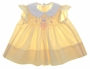 "<img src=""https://p11.secure.hostingprod.com/@grammies-attic.com/ssl/images/blue-sold-1.gif""> Polly Flinders Yellow Smocked Dress with Pinafore Style Sleeves"