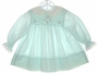 "<img src=""https://p11.secure.hostingprod.com/@grammies-attic.com/ssl/images/blue-sold-1.gif""> Polly Flinders Pale Green Long Sleeved Smocked Dress with White Lace Trimmed Collar"