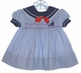 "<img src=""https://p11.secure.hostingprod.com/@grammies-attic.com/ssl/images/blue-sold-1.gif""> Polly Flinders Blue Striped Sailor Dress with Smocking"