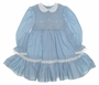 "<img src=""https://p11.secure.hostingprod.com/@grammies-attic.com/ssl/images/blue-sold-1.gif""> Polly Flinders Wedgewood Blue Smocked Dress with White Embroidered Collar"