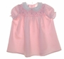 "<img src=""https://p11.secure.hostingprod.com/@grammies-attic.com/ssl/images/blue-sold-1.gif""> Polly Flinders Pink Smocked Baby Dress and Matching Bonnet with Eyelet Trim"