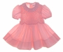 "<img src=""https://p11.secure.hostingprod.com/@grammies-attic.com/ssl/images/blue-sold-1.gif""> Polly Flinders Bright Pink Smocked Toddler Dress with Ruffled Collar"