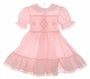 "<img src=""https://p11.secure.hostingprod.com/@grammies-attic.com/ssl/images/blue-sold-1.gif""> Polly Flinders Pink Smocked Dress with Lacy Ruffled Hem"