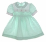 "<img src=""https://p11.secure.hostingprod.com/@grammies-attic.com/ssl/images/blue-sold-1.gif""> Polly Flinders Green Checked Smocked Toddler Dress"
