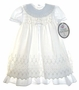 "<img src=""https://p11.secure.hostingprod.com/@grammies-attic.com/ssl/images/blue-sold-1.gif""> NEW Polly Flinders Ivory and White Eyelet Christening Gown and Matching Bonnet"