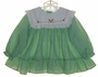 "<img src=""https://p11.secure.hostingprod.com/@grammies-attic.com/ssl/images/blue-sold-1.gif""> Polly Flinders Green Striped Dress with Red Embroidered White Bib Collar"