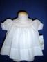 "<img src=""https://p11.secure.hostingprod.com/@grammies-attic.com/ssl/images/blue-sold-1.gif""> NEW Polly Flinders Tiny White Bishop Smocked Dress"