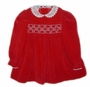 "<img src=""https://p11.secure.hostingprod.com/@grammies-attic.com/ssl/images/blue-sold-1.gif""> Polly Flinders Dark Red Velvet Smocked Dress with White Lace Collar for Toddlers and Little Girls"