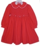 "<img src=""https://p11.secure.hostingprod.com/@grammies-attic.com/ssl/images/blue-sold-1.gif""> Polly Flinders Dark Red Smocked Toddler Dress with White Embroidered Flowers"