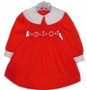 "<img src=""https://p11.secure.hostingprod.com/@grammies-attic.com/ssl/images/blue-sold-1.gif""> Polly Flinders Red Smocked Toddler Dress with White Cuffs"