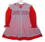 "<img src=""https://p11.secure.hostingprod.com/@grammies-attic.com/ssl/images/blue-sold-1.gif""> Polly Flinders Red Little Girls Dress with White Dotted Smocked Pinafore"