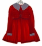 "<img src=""https://p11.secure.hostingprod.com/@grammies-attic.com/ssl/images/blue-sold-1.gif""> Polly Flinders Red Smocked Dress for Little Girls with Heart Embroidery"