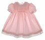 "<img src=""https://p11.secure.hostingprod.com/@grammies-attic.com/ssl/images/blue-sold-1.gif""> Polly Flinders Pink Smocked Baby Dress with Eyelet Trimmed Collar"