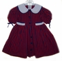 "<img src=""https://p11.secure.hostingprod.com/@grammies-attic.com/ssl/images/blue-sold-1.gif""> Polly Flinders Red and Navy Checked Little Girls Dress with White Collar"