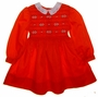 "<img src=""https://p11.secure.hostingprod.com/@grammies-attic.com/ssl/images/blue-sold-1.gif""> Polly Flinders Red Smocked Dress with Embroidered Flowers and White Eyelet Collar"