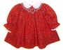 "<img src=""https://p11.secure.hostingprod.com/@grammies-attic.com/ssl/images/blue-sold-1.gif""> Polly Flinders Red Floral Print Bishop Smocked Dress with White Eyelet Trimmed Collar"