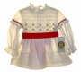 "<img src=""https://p11.secure.hostingprod.com/@grammies-attic.com/ssl/images/blue-sold-1.gif""> NEW Polly Flinders Ivory Smocked Dress with Embroidered Hearts"