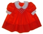 "<img src=""https://p11.secure.hostingprod.com/@grammies-attic.com/ssl/images/blue-sold-1.gif""> Polly Flinders Tiny Red Smocked Baby Dress with Embroidered Fowers"