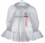 "<img src=""https://p11.secure.hostingprod.com/@grammies-attic.com/ssl/images/blue-sold-1.gif""> Polly Flinders White Dotted Smocked Dress with Red Embroidered Flowers"