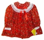 "<img src=""https://p11.secure.hostingprod.com/@grammies-attic.com/ssl/images/blue-sold-1.gif""> NEW Polly Flinders Red Flowered Dress with Lace Trimmed Portrait Collar"