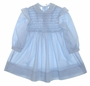 "<img src=""https://p11.secure.hostingprod.com/@grammies-attic.com/ssl/images/blue-sold-1.gif""> Polly Flinders Blue Smocked Toddler Dress with Pink Embroidered Flowers"