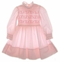 "<img src=""https://p11.secure.hostingprod.com/@grammies-attic.com/ssl/images/blue-sold-1.gif""> Polly Flinders Pink Smocked Dress with High Ruffled Collar"