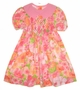 "<img src=""https://p11.secure.hostingprod.com/@grammies-attic.com/ssl/images/blue-sold-1.gif""> Polly Flinders Bright Pink Tropical Print Smocked Dress"