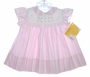 "<img src=""https://p11.secure.hostingprod.com/@grammies-attic.com/ssl/images/blue-sold-1.gif""> NEW Polly Flinders Pink Striped Dress with Pleated Yoke and Rosebuds"